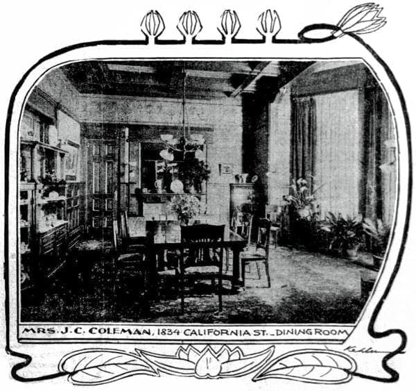 Artistic San Francisco dining rooms (1900)