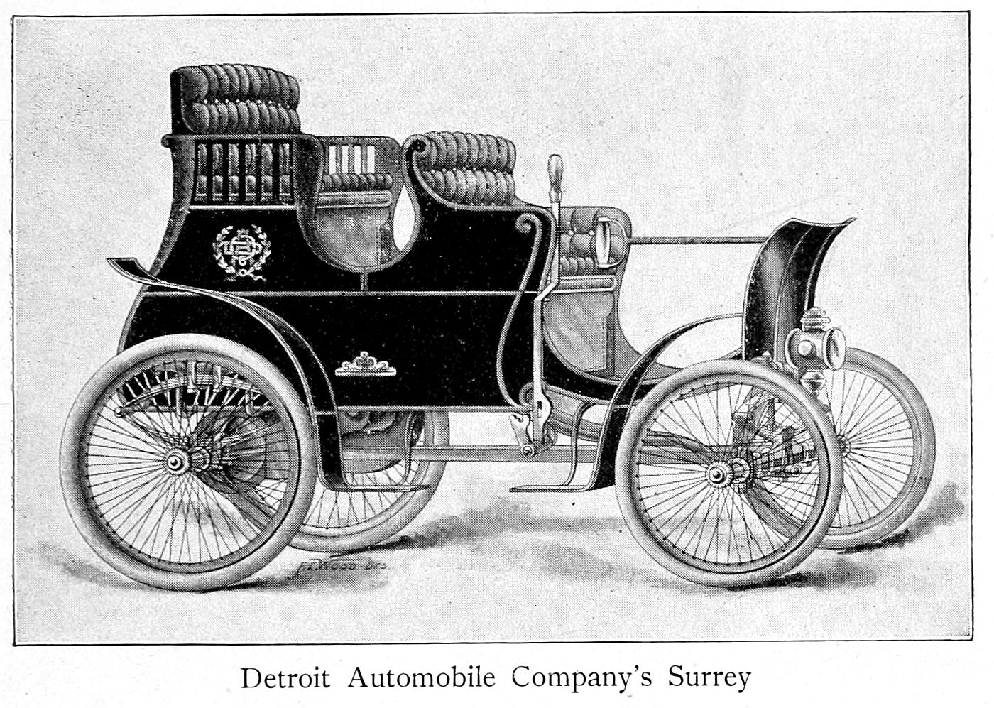 1900s Detroit Automobile Company's Surrey