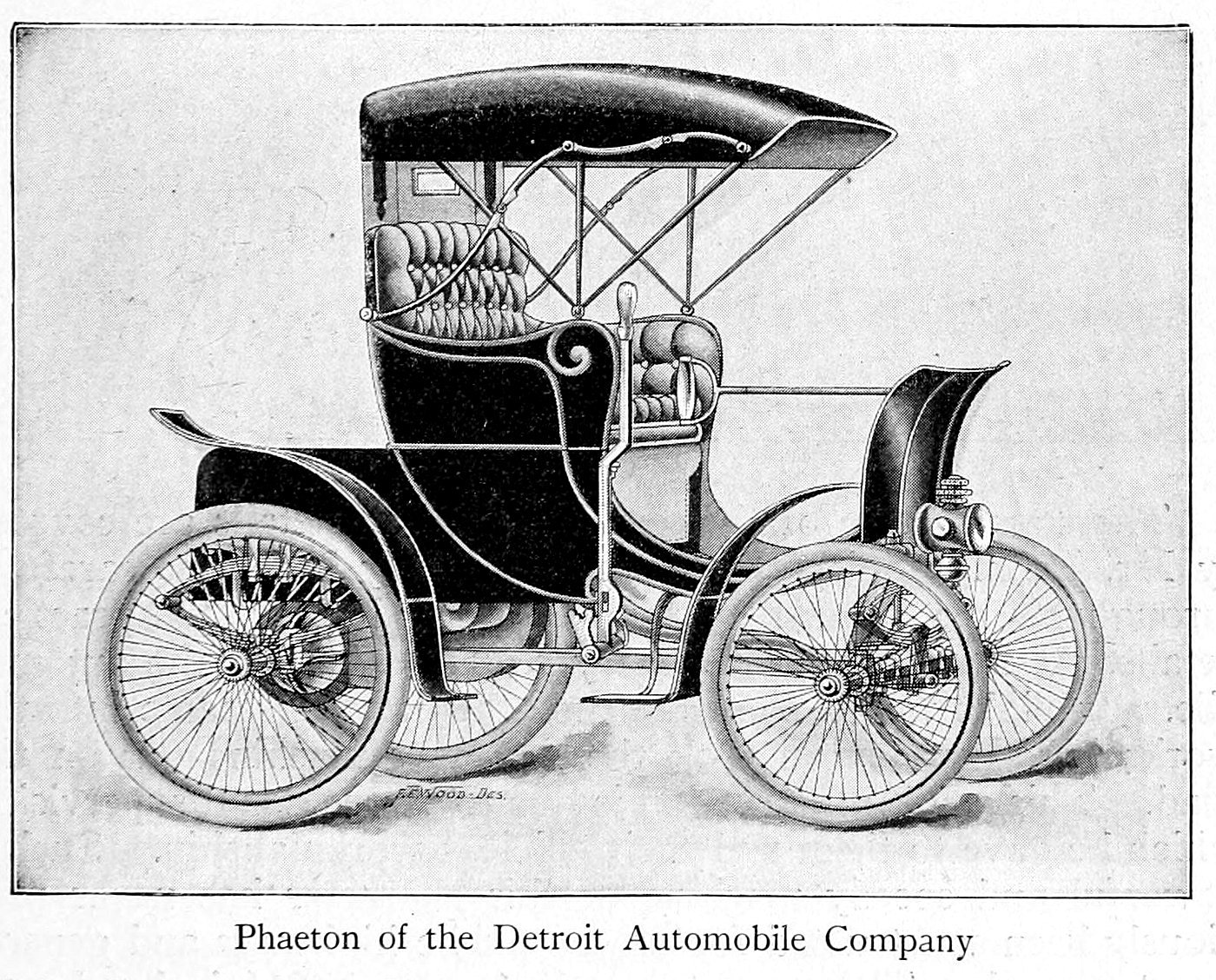 1900s Touring cart of the Detroit Automobile Company