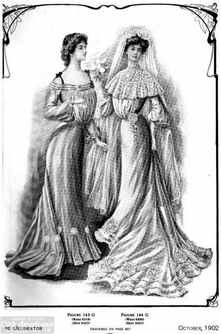 1902 The Delineator bride wedding