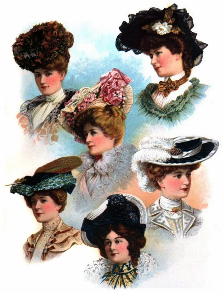 1902 The Delineator hats