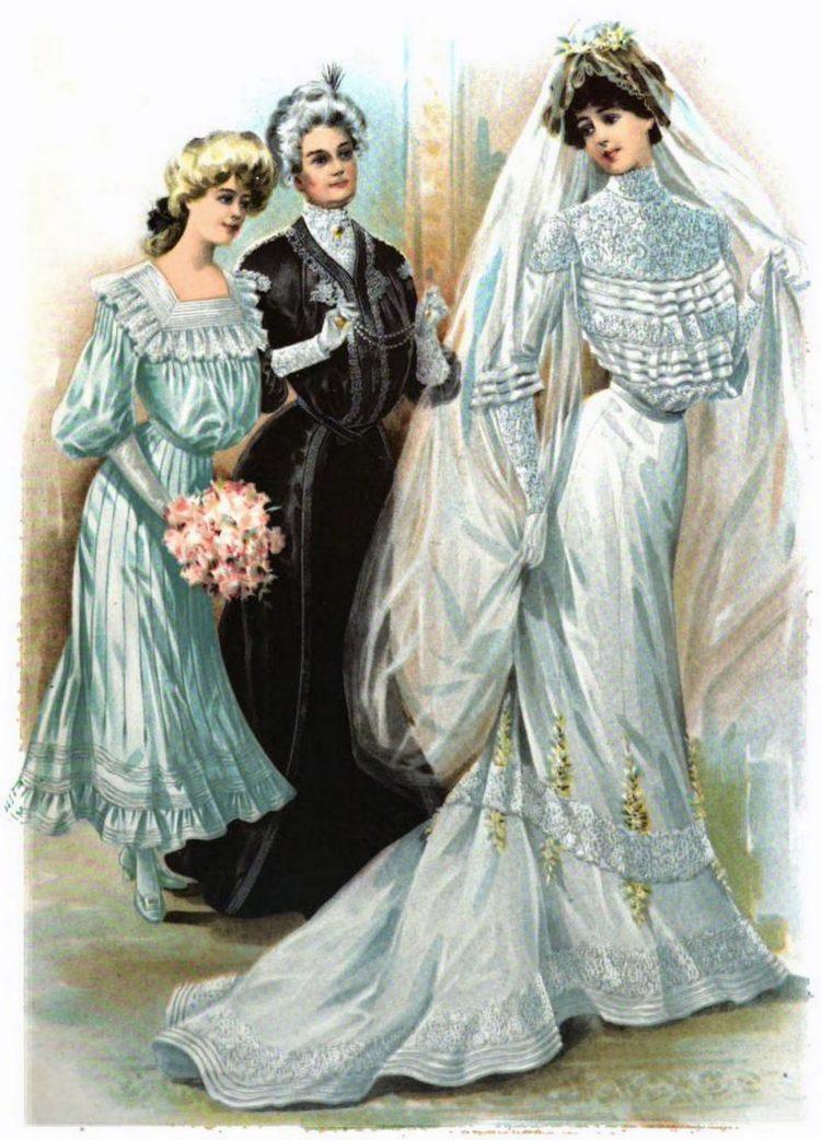 1902 The Delineator weddings bride