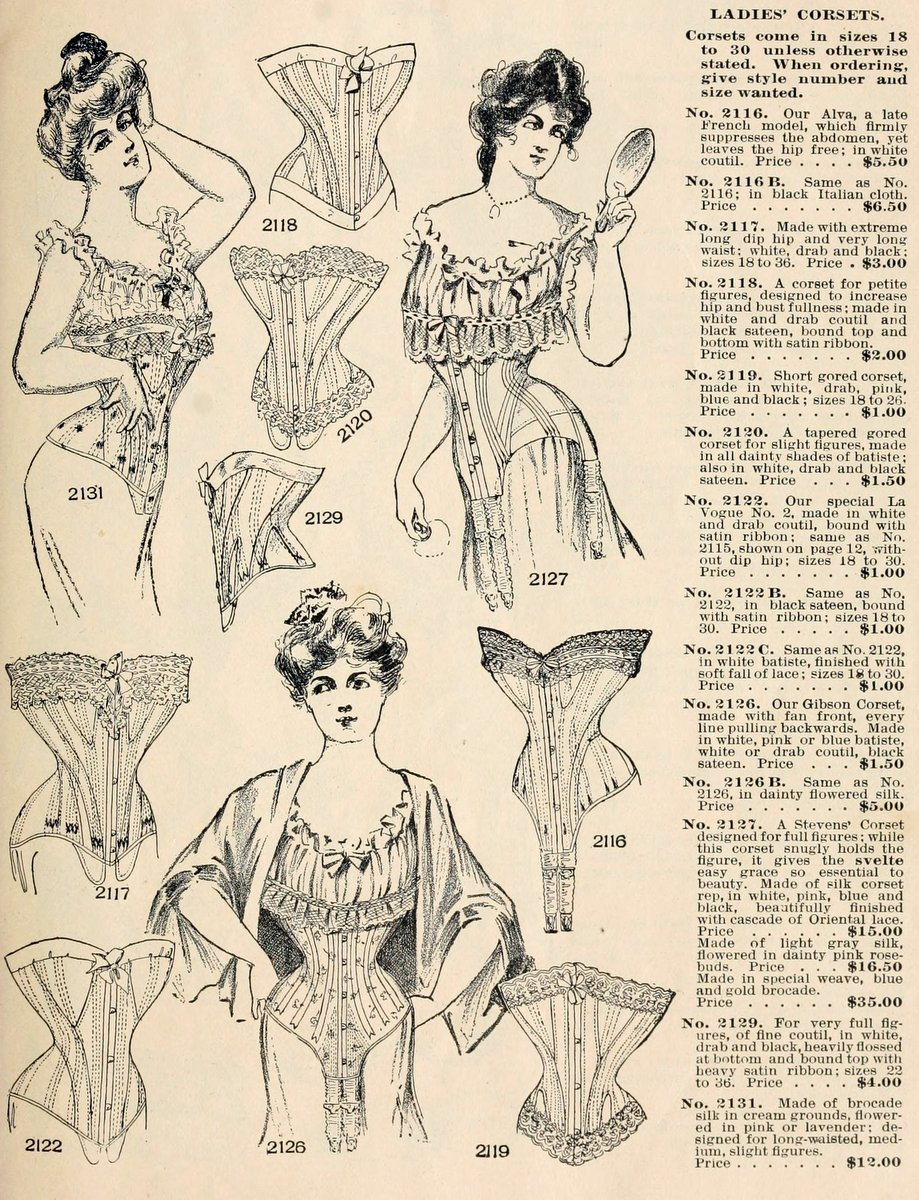 Late Victorian era corsets from 1902