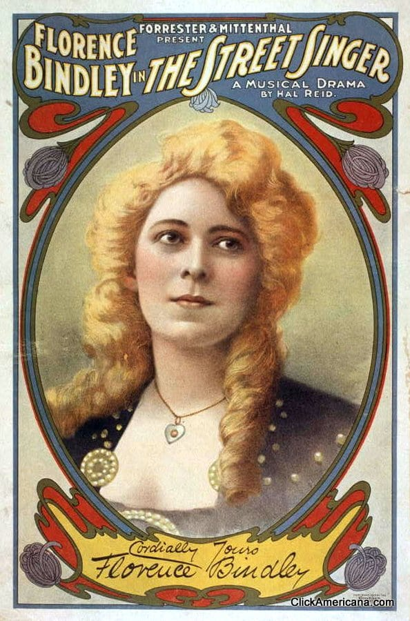Florence Bindley in The Street Singer (1904)