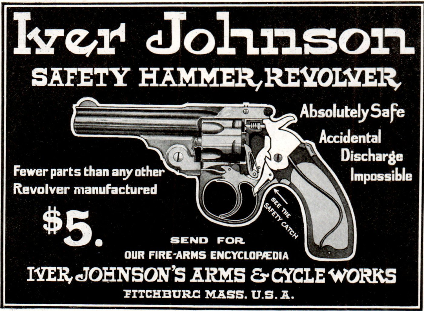 1904 Iver Johnson safety hammer revolver - Vintage guns