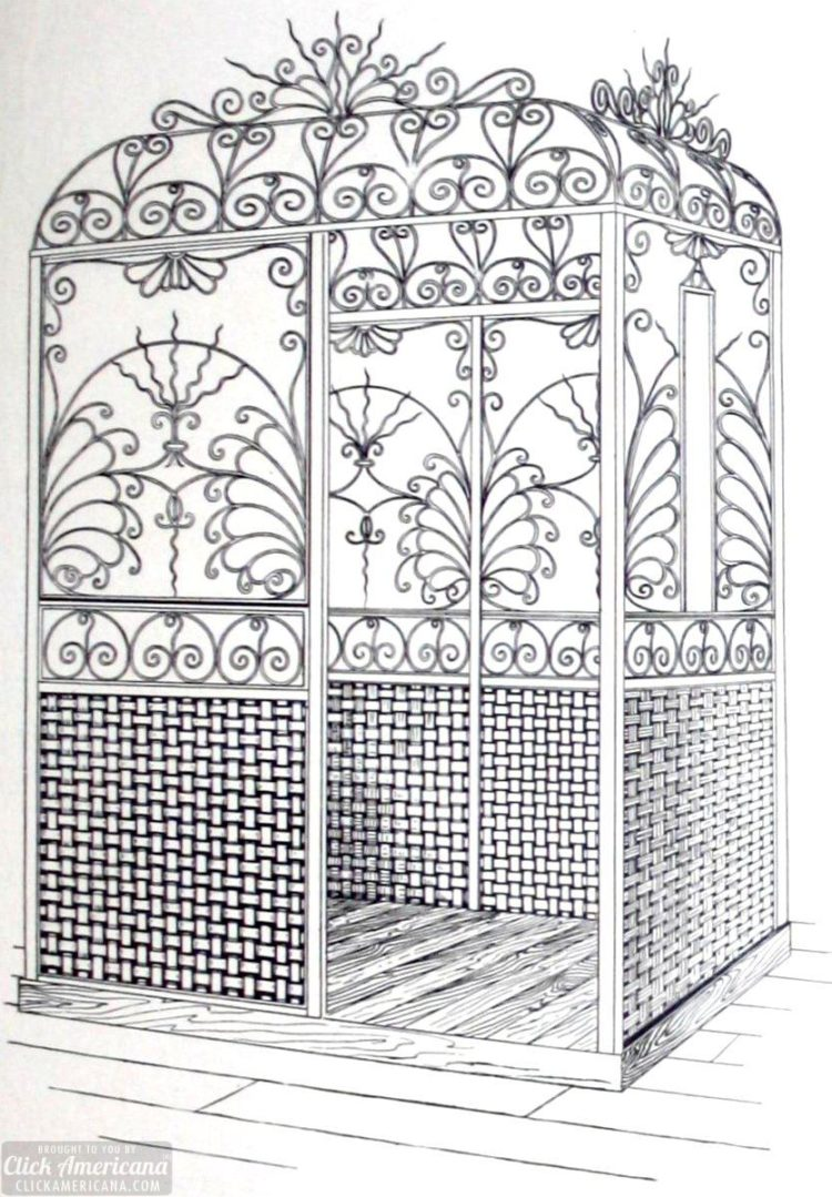 Edwardian metal cage elevator enclosures 1905