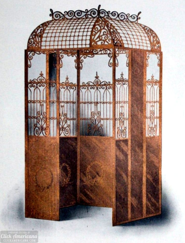 Antique Copper-Plated Elevator Enclosure