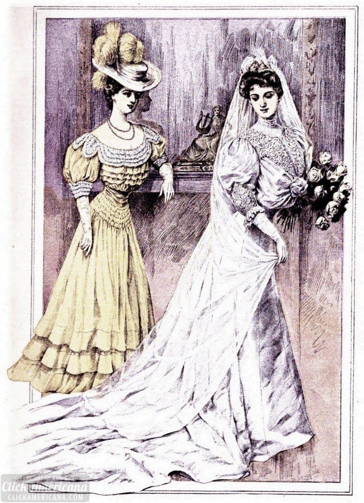 1905 wedding dress