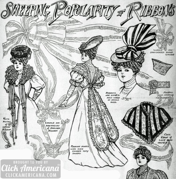 Vintage style: The sweeping popularity of ribbons and bows (1906)