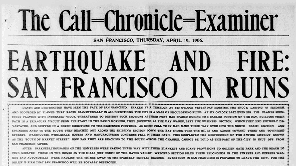 San Francisco The Day After The Earthquake 1906 Click