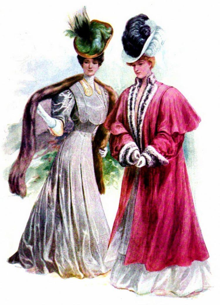 1906 women tilted hats