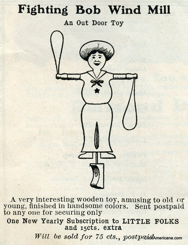 Fighting Bob windmill antique toy (1908)