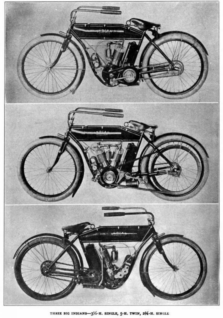 1909 Indian vintage motorcycles