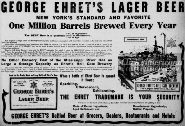 1909-george-ehret-lager-beer-ad