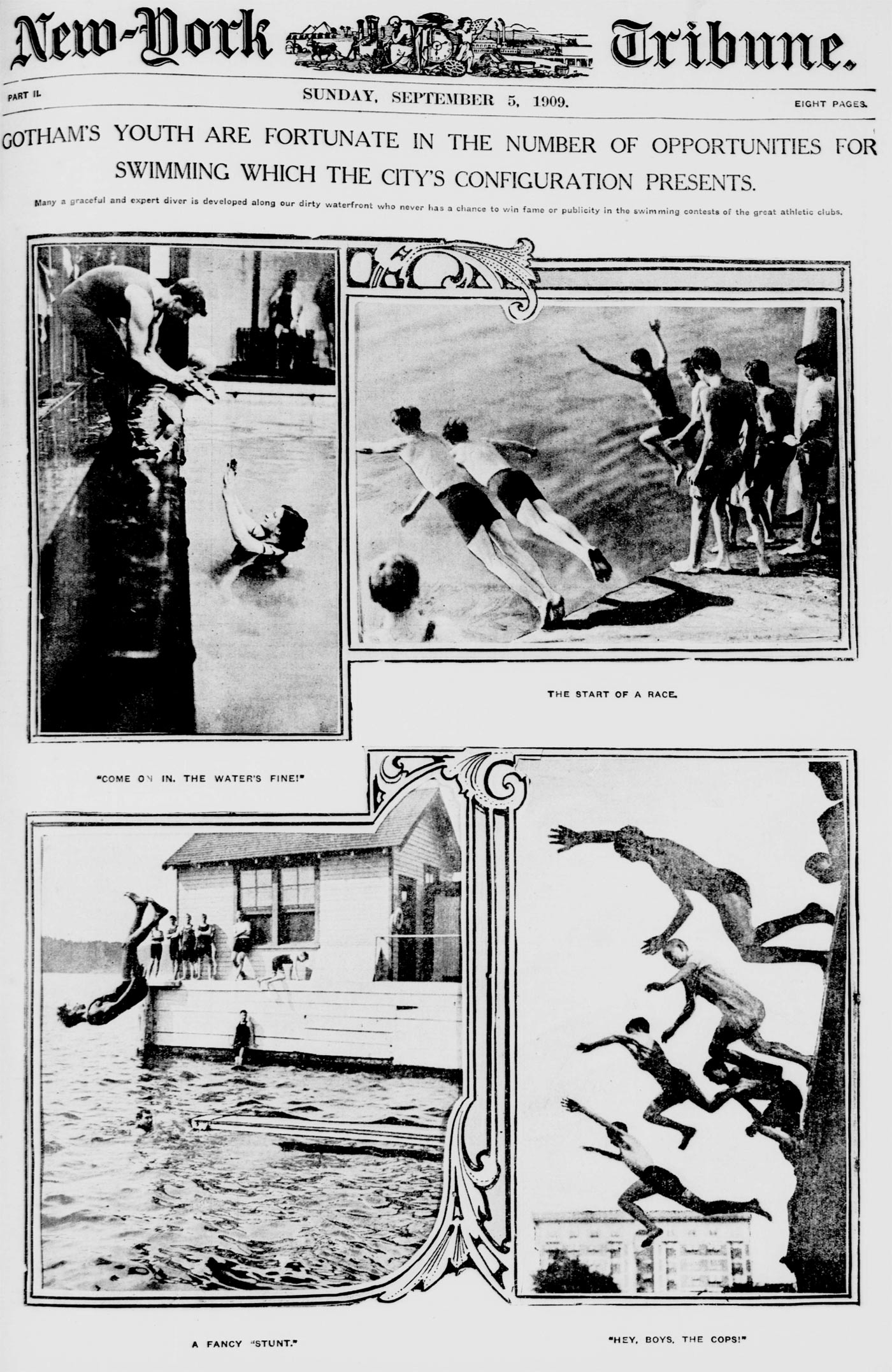 Summer swimming in New York (1909)