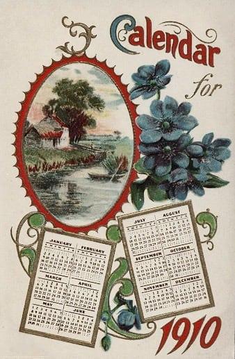 Homemade Gift Calendars 1910 Click Americana