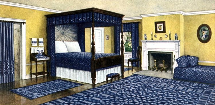 1910 colonial bedroom - home