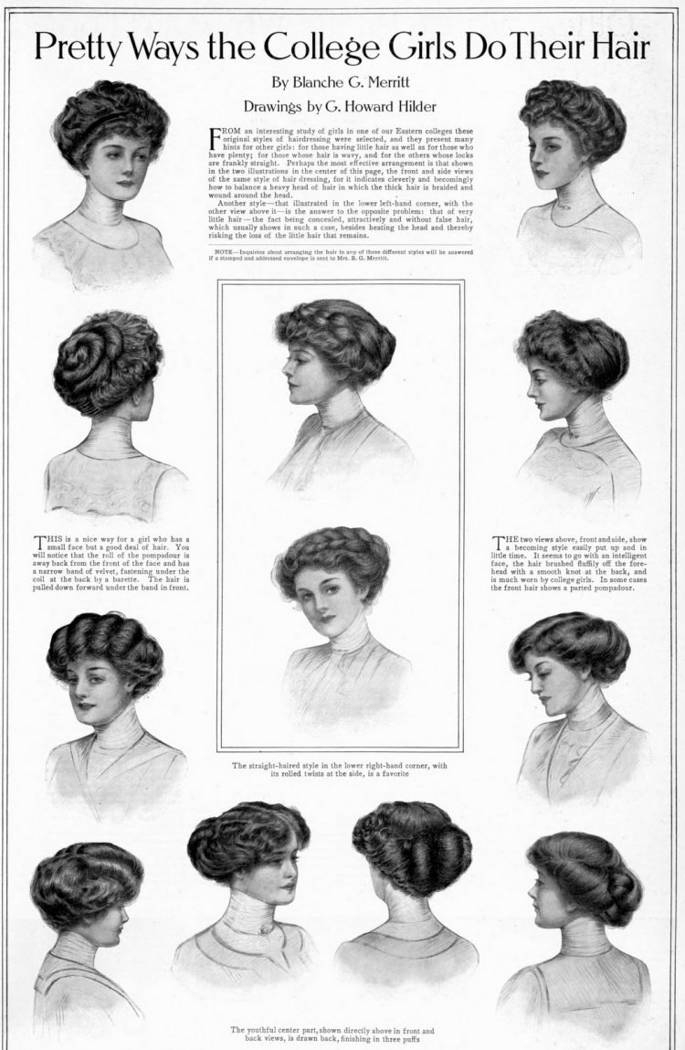 1911 College girls hair beauty