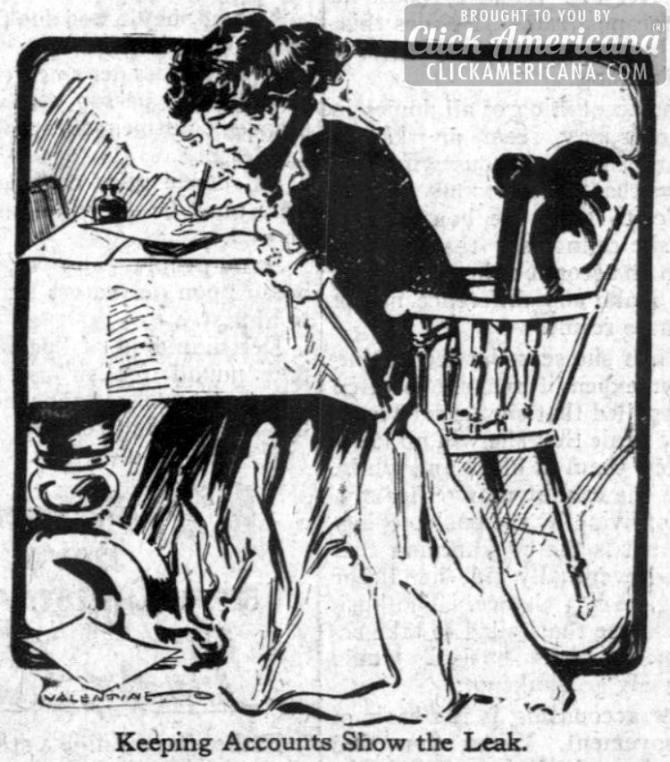 Problems of a young housewife: The cost of living (1911)