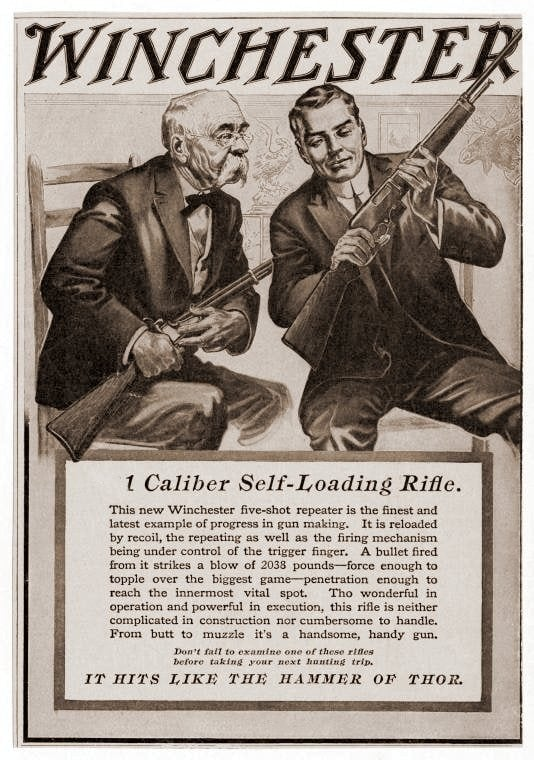 1911 Winchester self-loading antique rifle