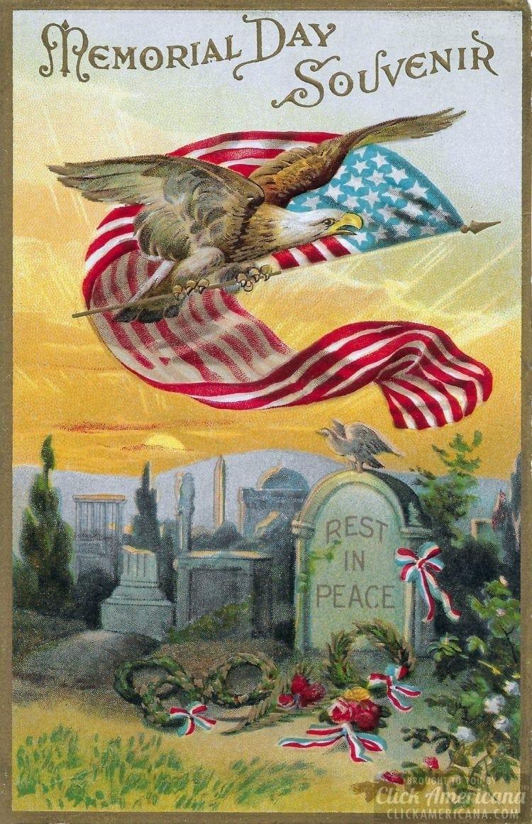 1912 Memorial Day postcard