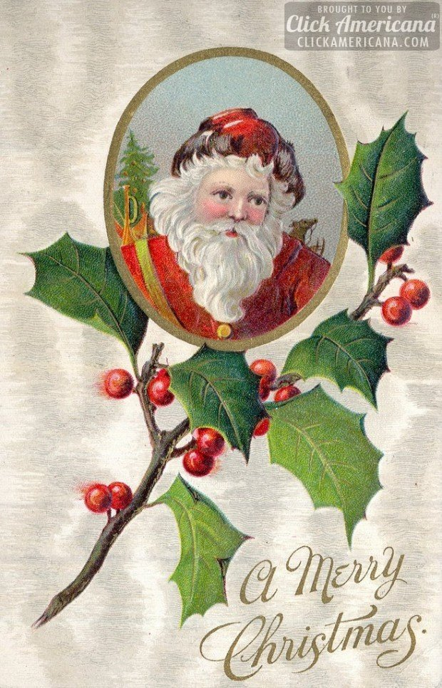 10 Antique Christmas Postcards From 100 Years Ago 1913