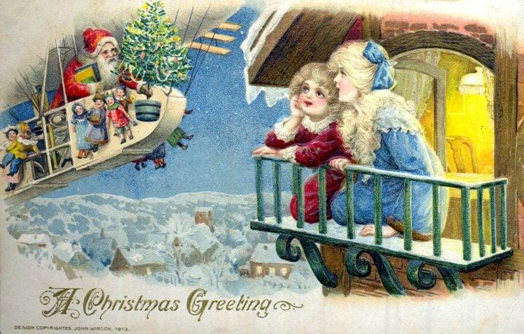 1913-christmas-greeting-santa-card