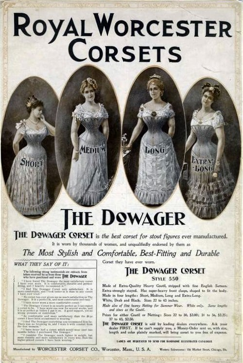 1914 The Dowager Corset