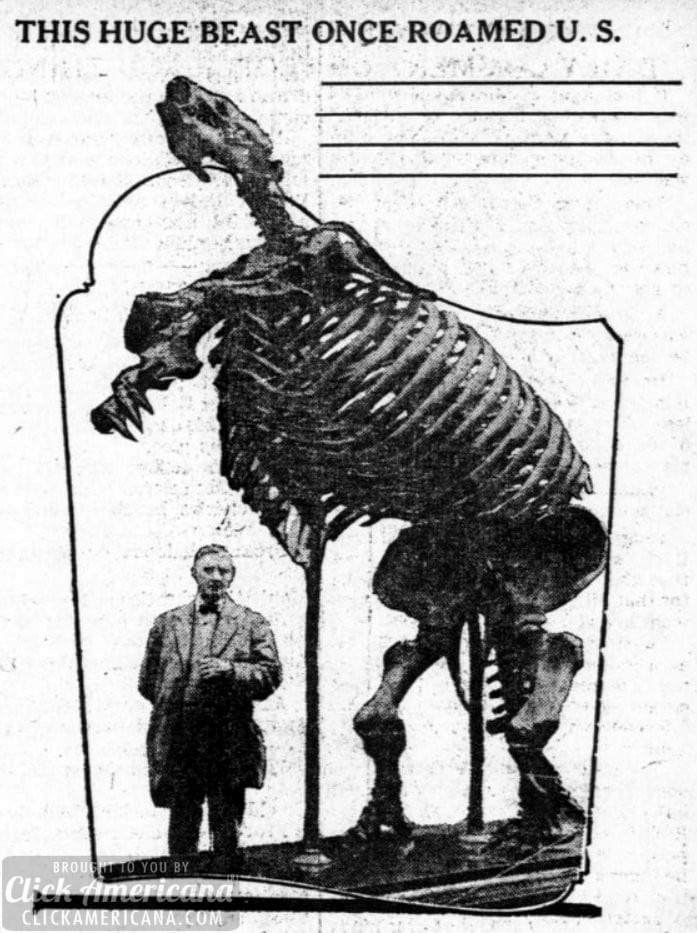 This huge beast once roamed the US (1914)