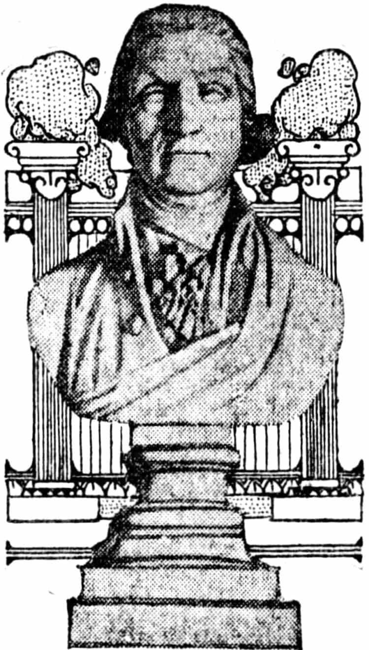 George Washington's false teeth in statue