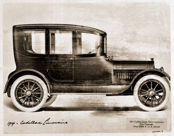 New Cadillac design announced (1913)