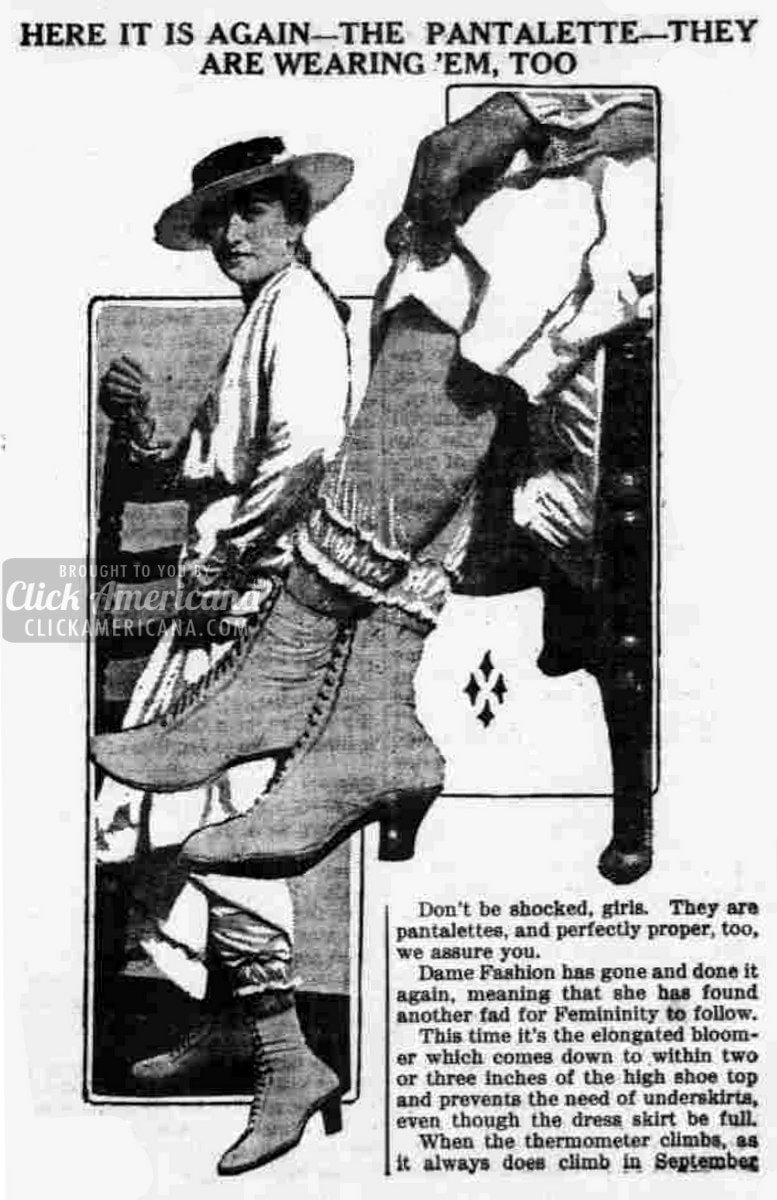 Latest fashion: The pantalette (1915)