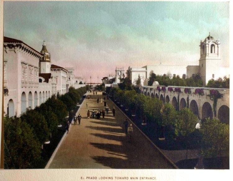 1916 Panama-California Exposition - El Prado looking toward main entrance