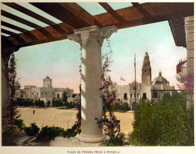 1916 Panama-California Exposition - Plaza de Panama from a pergola