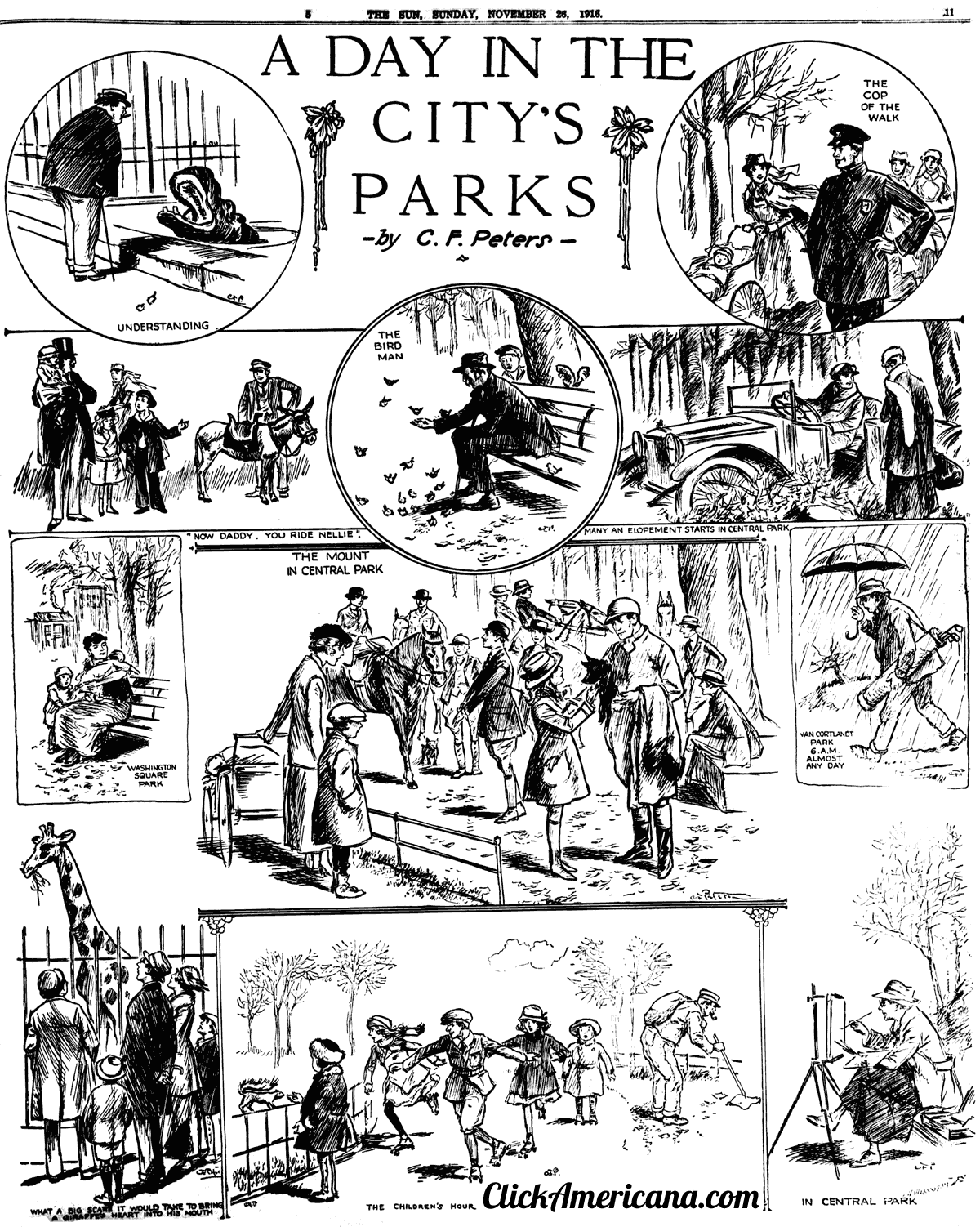 A day in NYC's parks (1916)