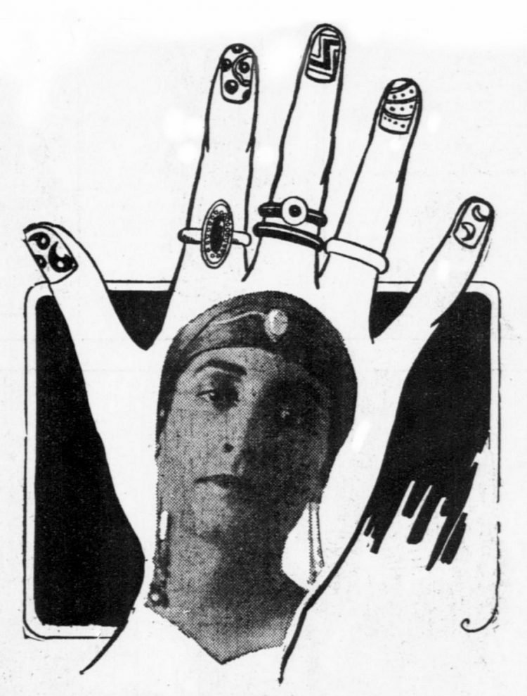 1916 - finger nail art manicure