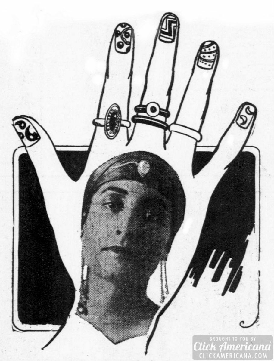 Are you wearing gilded or decorated nails? (1916)