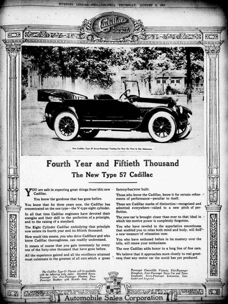 1917 Vintage Cadillacs