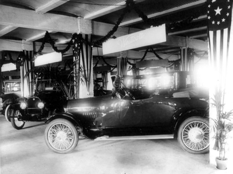 1917-Westcott automobiles at the Washington, D.C., auto show