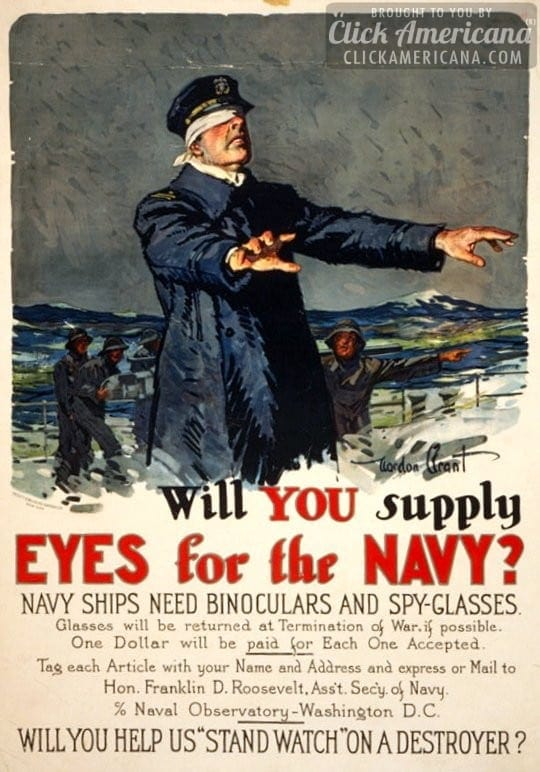 Why the Navy wanted binoculars for WWI & WWII (1942)