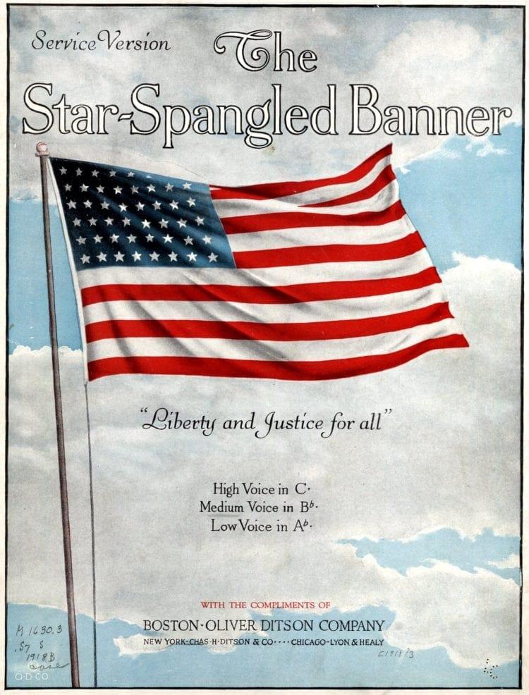 1918 Star spangled banner Flag