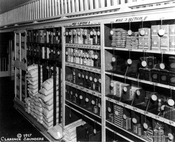 inside a piggly wiggly grocery store 1918 click americana. Black Bedroom Furniture Sets. Home Design Ideas