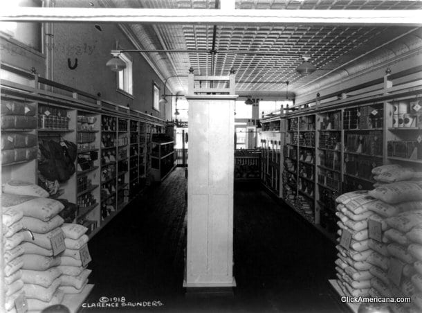 Inside A Piggly Wiggly Grocery Store 1918 Click Americana