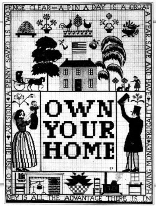 """Prize-winning """"Own Your Home"""" poster (1920)"""