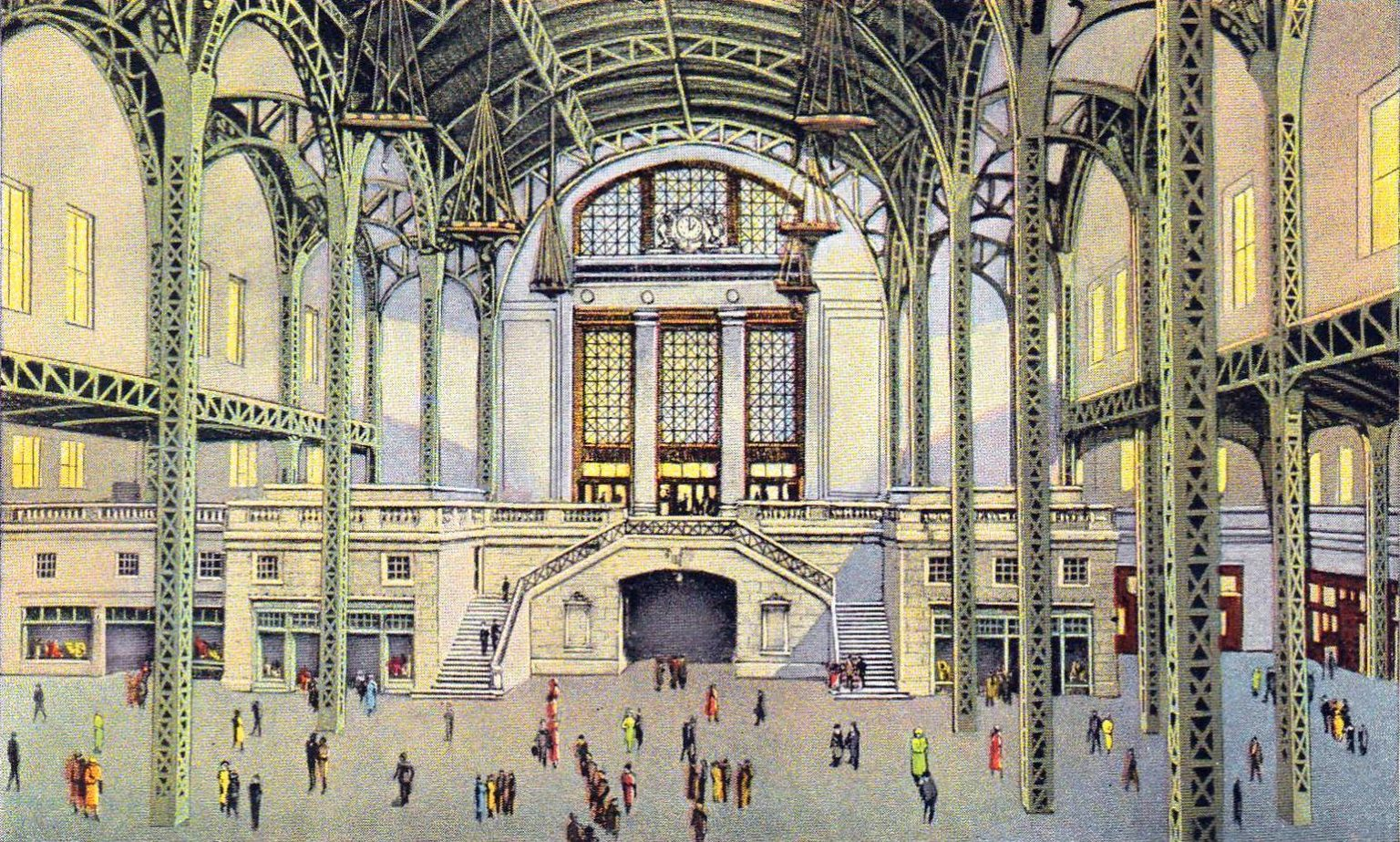 1920s Union Station train in Chicago Illinois