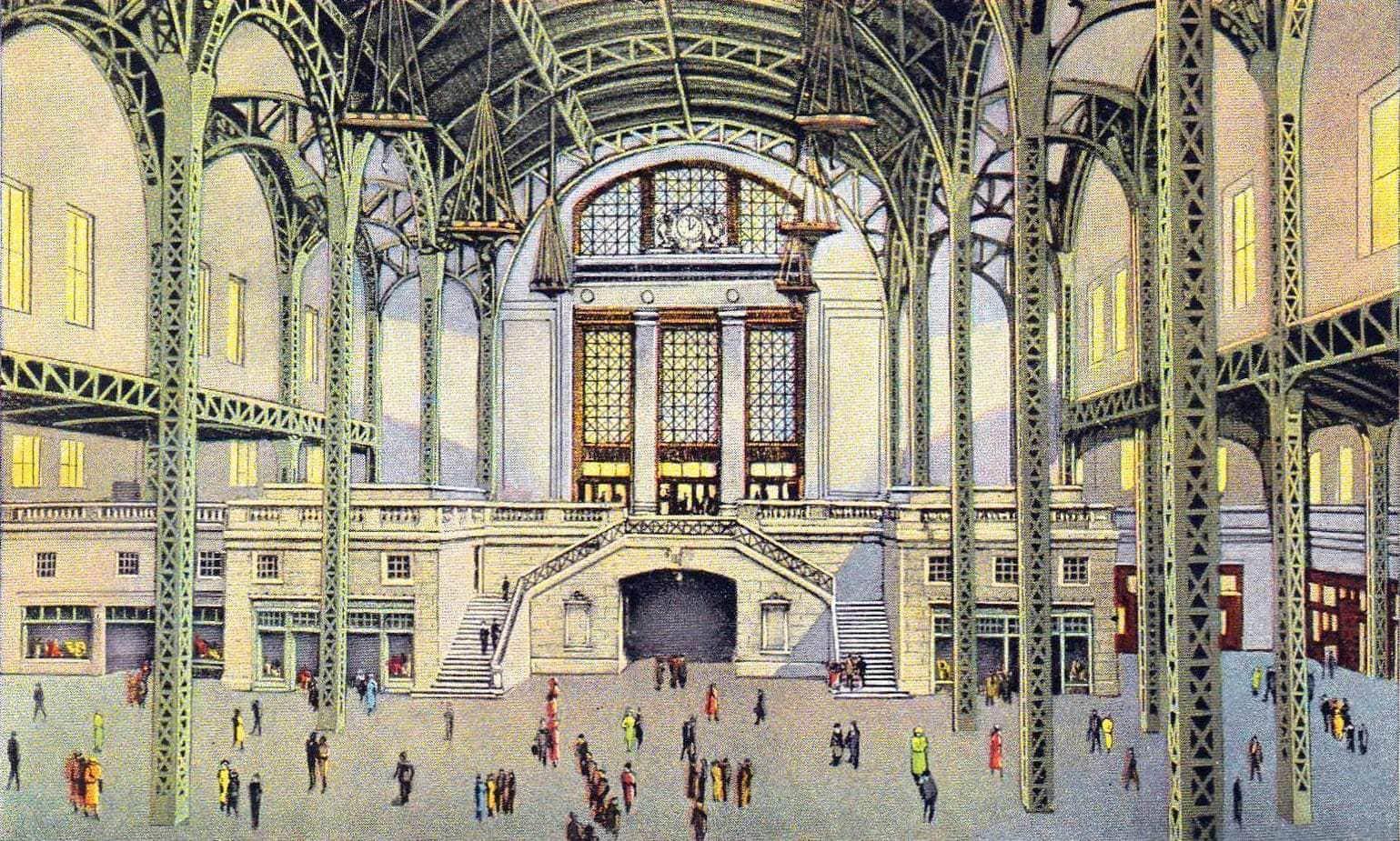 1920s Union Station train in Chicago Illinois