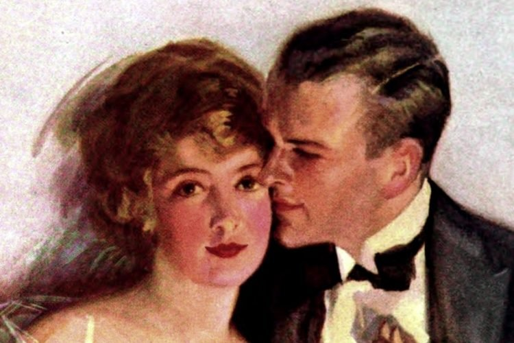 1920s couple - engagement stories