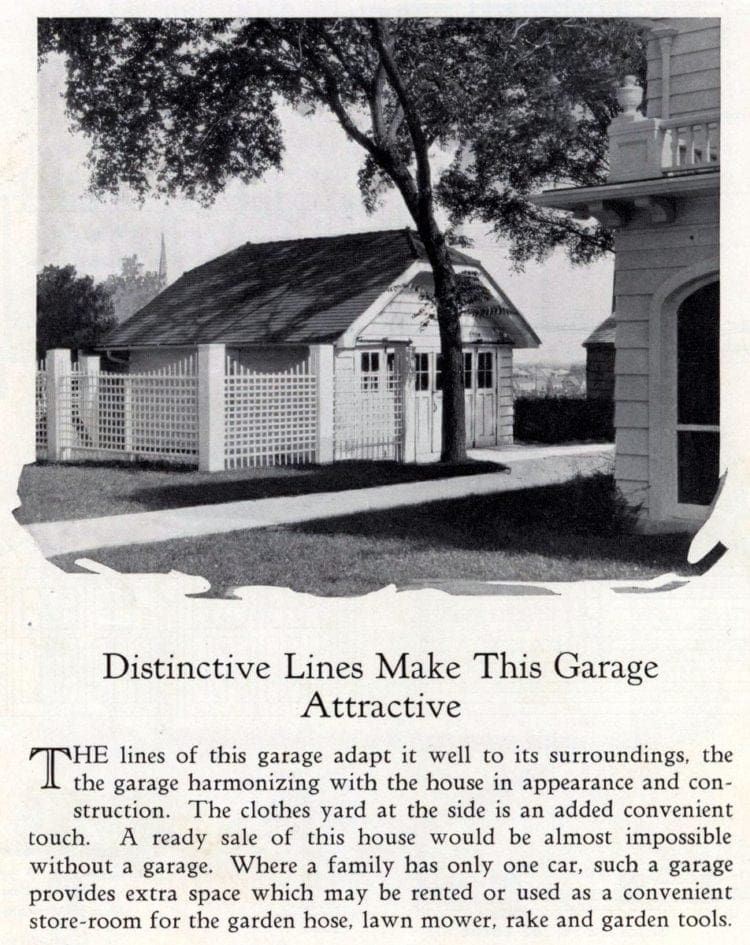 Distinctive lines in this garage design