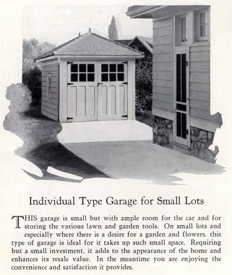 Vintage garage styles for small lots