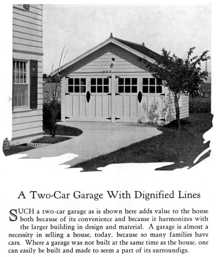 Vintage 2-car garage